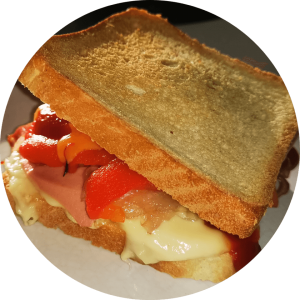 recipe image - hot sandwich with peppers