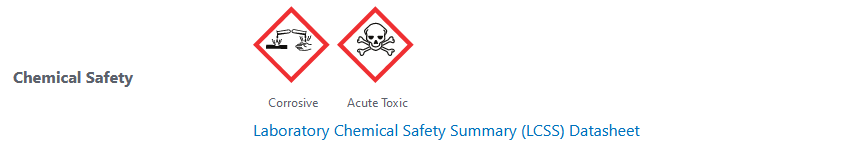 pubmed screen shot - chemical safety of Calcium propionate